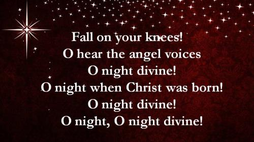 O Holy Night with Lyrics PowerPoint Template 6