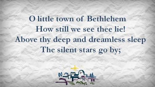 O Little Town of  Bethlehem with Lyrics PowerPoint Template 3