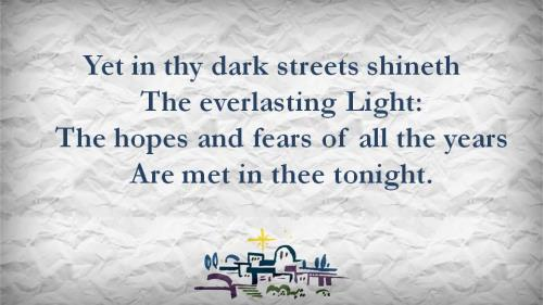 O Little Town of  Bethlehem with Lyrics PowerPoint Template