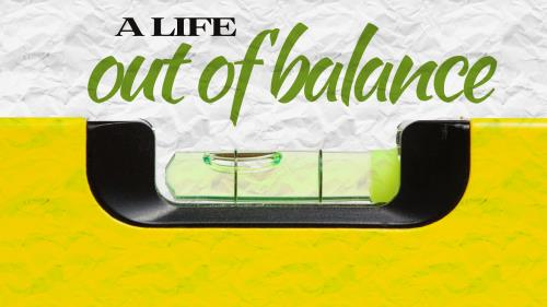 Out of  Balance PowerPoint Template 1