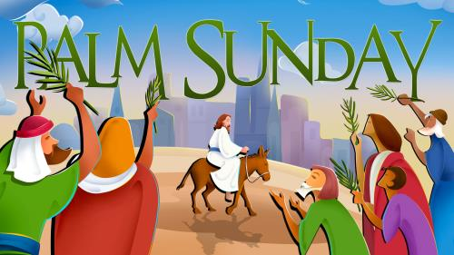Palm  Sunday 1 PowerPoint Template 1