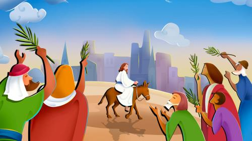 Palm  Sunday 1 PowerPoint Template 2