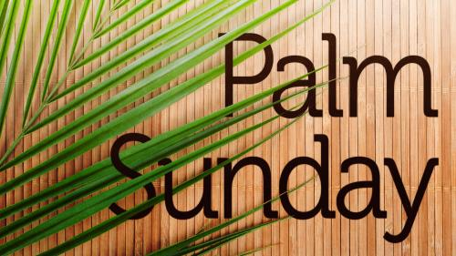 Palm  Sunday 3 PowerPoint Template 1