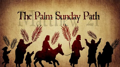 Palm Sunday Path PowerPoint Template 1