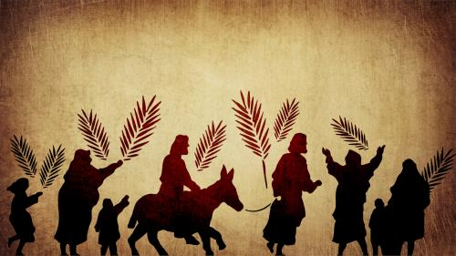 Palm Sunday Path PowerPoint Template 2