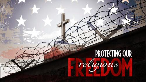 Protecting Our Religious Freedom PowerPoint Template 1