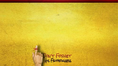 Remember His Faithfulness PowerPoint Template 3