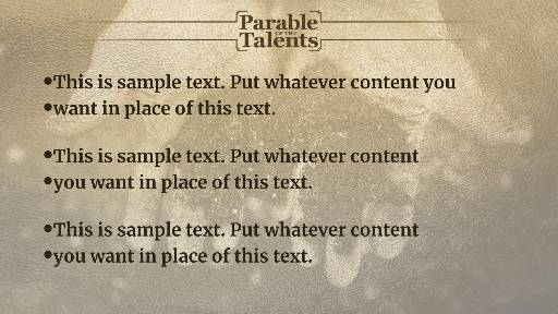 The Parable of the Talents Preaching Slide
