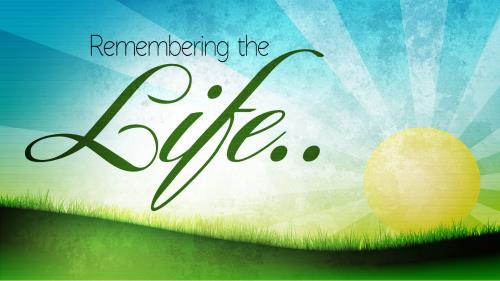 Remembering the Life PowerPoint Template 1