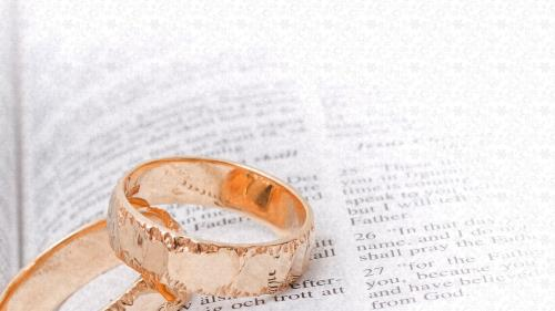 Wedding Welcome Bible Rings Preaching Slide