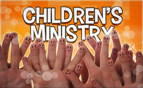 Childrens Ministry Hands PowerPoint Template 1