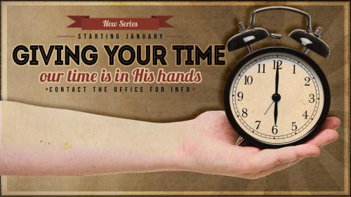 Giving Your Time PowerPoint Template 1