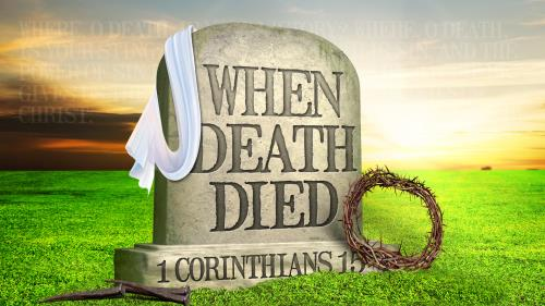 When Death Died PowerPoint Template 1