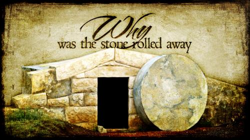 The Stone Rolled Away PowerPoint Template 1