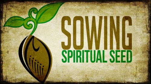 Sowing Spiritual Seed PowerPoint Template 1