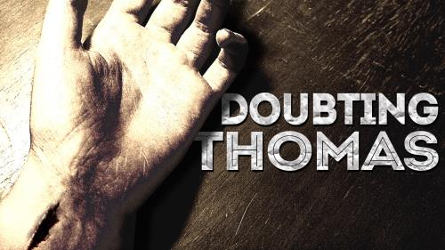 Doubting Thomas Scar PowerPoint Template 1