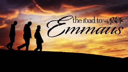 Road to Emmaus PowerPoint Template 1