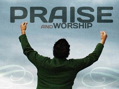 Praise and Worship PowerPoint Template 1