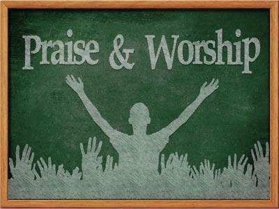 Praise and Worship 2 PowerPoint Template 1