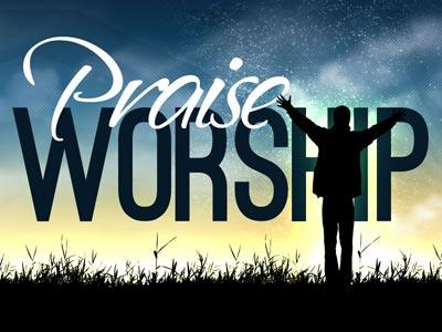 Praise and Worship 3 PowerPoint Template 1