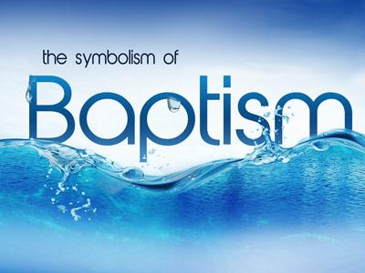 Symbol of Baptism PowerPoint Template 1