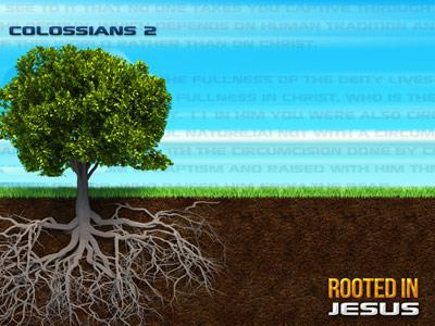Rooted in Jesus PowerPoint Template 3