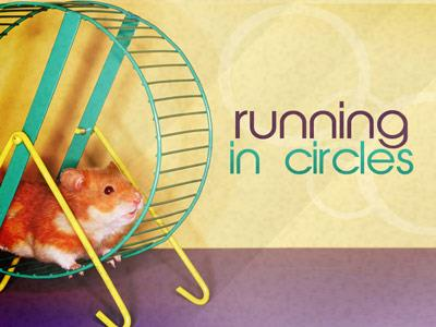 Running in Circles PowerPoint Template 1