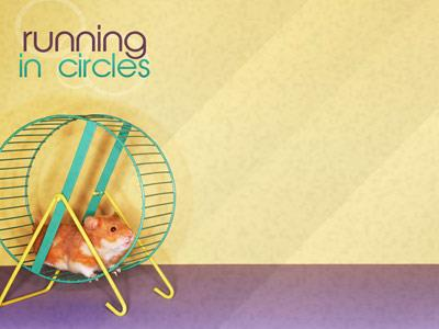 Running in Circles PowerPoint Template 3