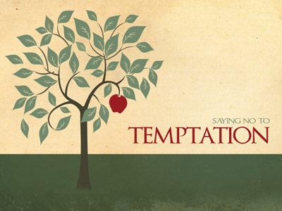 Saying No to Temptation PowerPoint Template 1