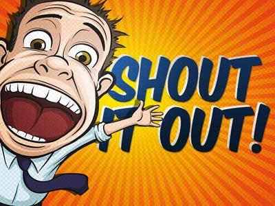 Shout It Out PowerPoint Template 1