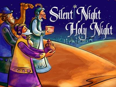 Silent Night Holy Night PowerPoint Template 1