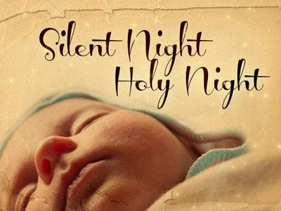Silent Night with Lyrics PowerPoint Template 1