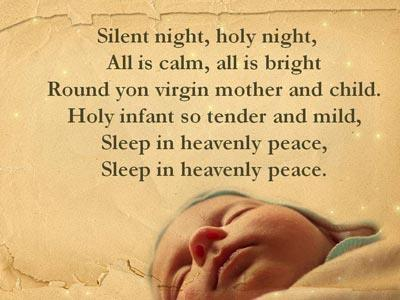 Silent Night with Lyrics PowerPoint Template 3