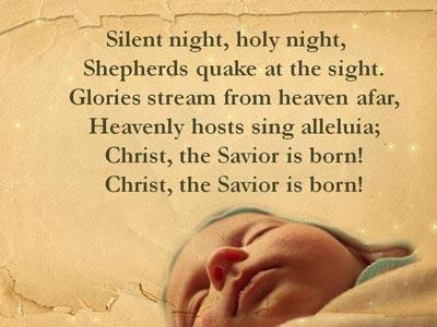 Silent Night with Lyrics PowerPoint Template 4