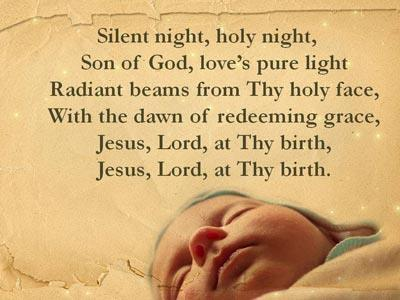 Silent Night with Lyrics PowerPoint Template 5