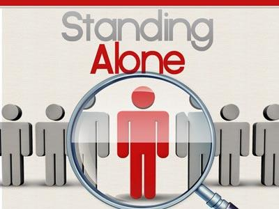 Standing Alone PowerPoint Template 1