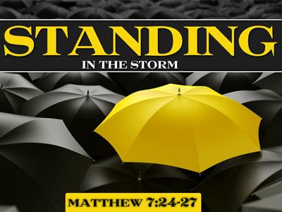 Standing in the Storm PowerPoint Template 1