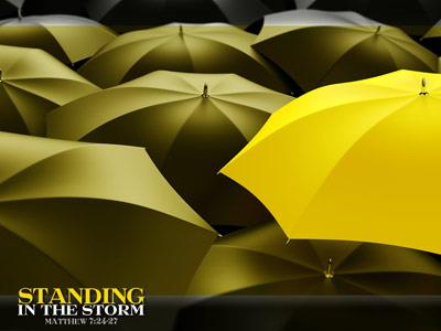 Standing in the Storm PowerPoint Template 3