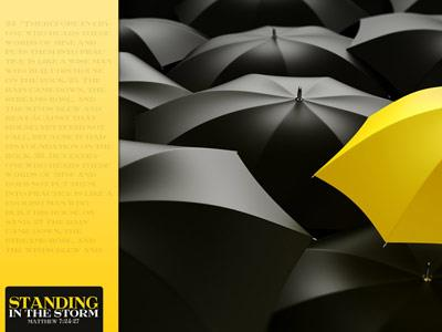 Standing in the Storm PowerPoint Template 4