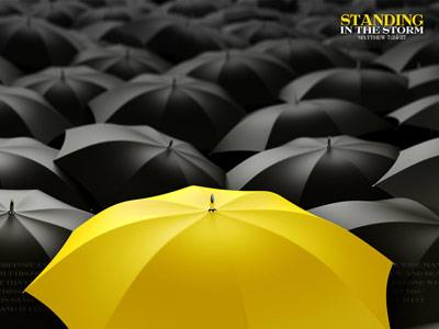 Standing in the Storm PowerPoint Template 5