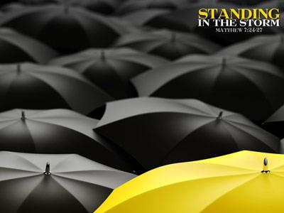 Standing in the Storm PowerPoint Template 6