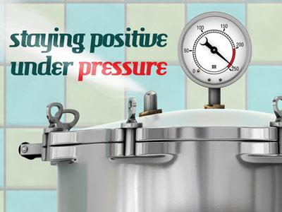 Staying Positive Under Pressure PowerPoint Template 1