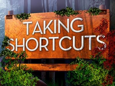 Taking Shortcuts PowerPoint Template 1