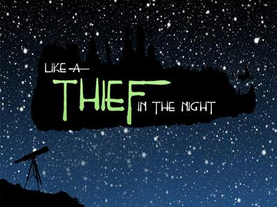 Thief in the Night PowerPoint Template 1