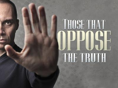 Those That Oppose the Truth PowerPoint Template 1