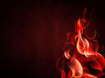 Tongues of Fire PowerPoint Template