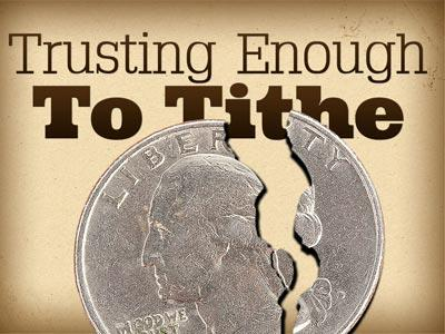 Trusting Enough to Tithe PowerPoint Template 1