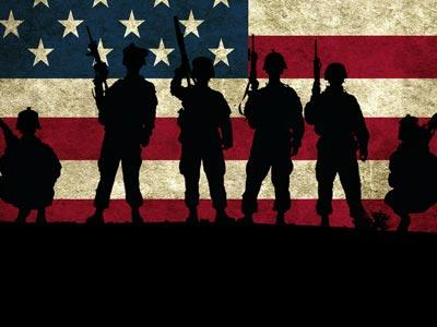 Veterans Day Soldiers PowerPoint Template 2