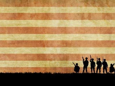 Veterans Day Soldiers PowerPoint Template 6