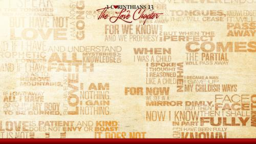1  Corinthians 13  Love  Chapter Preaching Slide